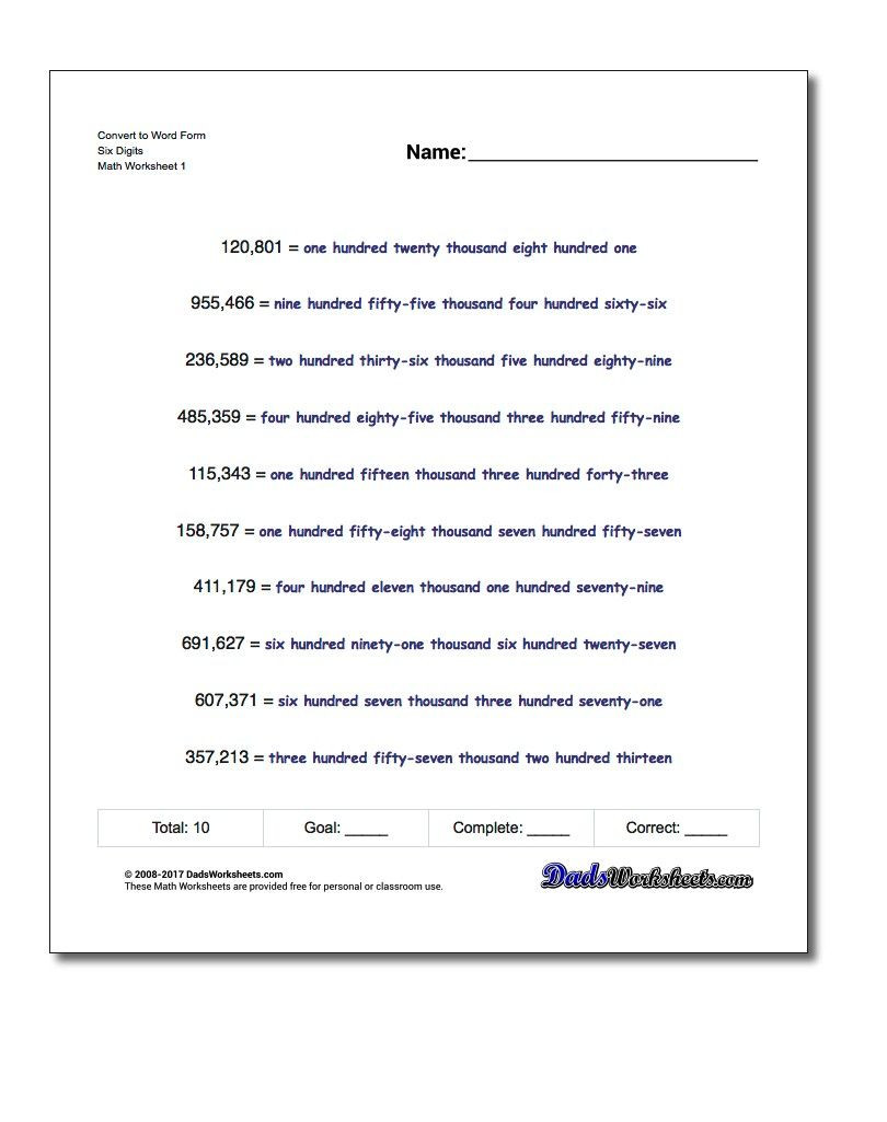 Science Fusion Grade 3 Worksheets Standard Expanded and Word form Practice Worksheets for