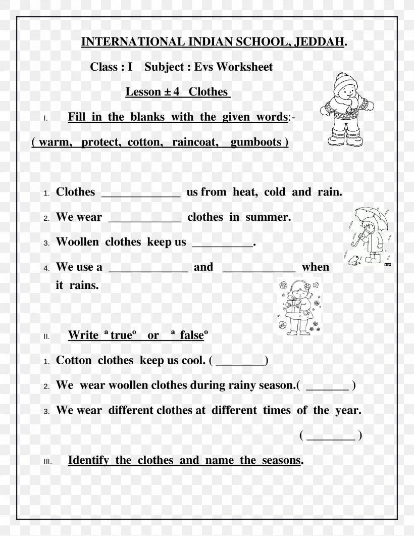 Seasons Worksheets for First Grade Math Worksheet Worksheet Clothing Class First Grade Lesson