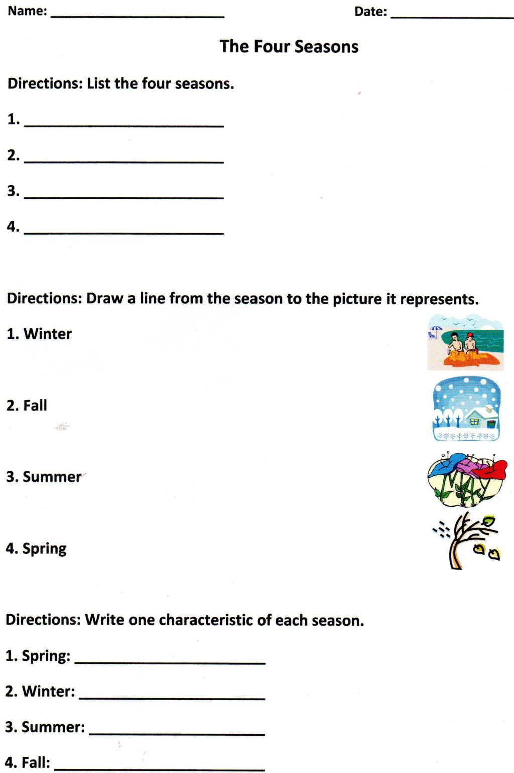 Seasons Worksheets for First Grade Worksheet Free Readin S for 1st Grade First and Language
