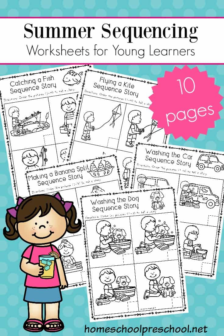 Sequence Worksheets for 3rd Grade Free Sequencing Worksheets for Summer Learning Cards Math