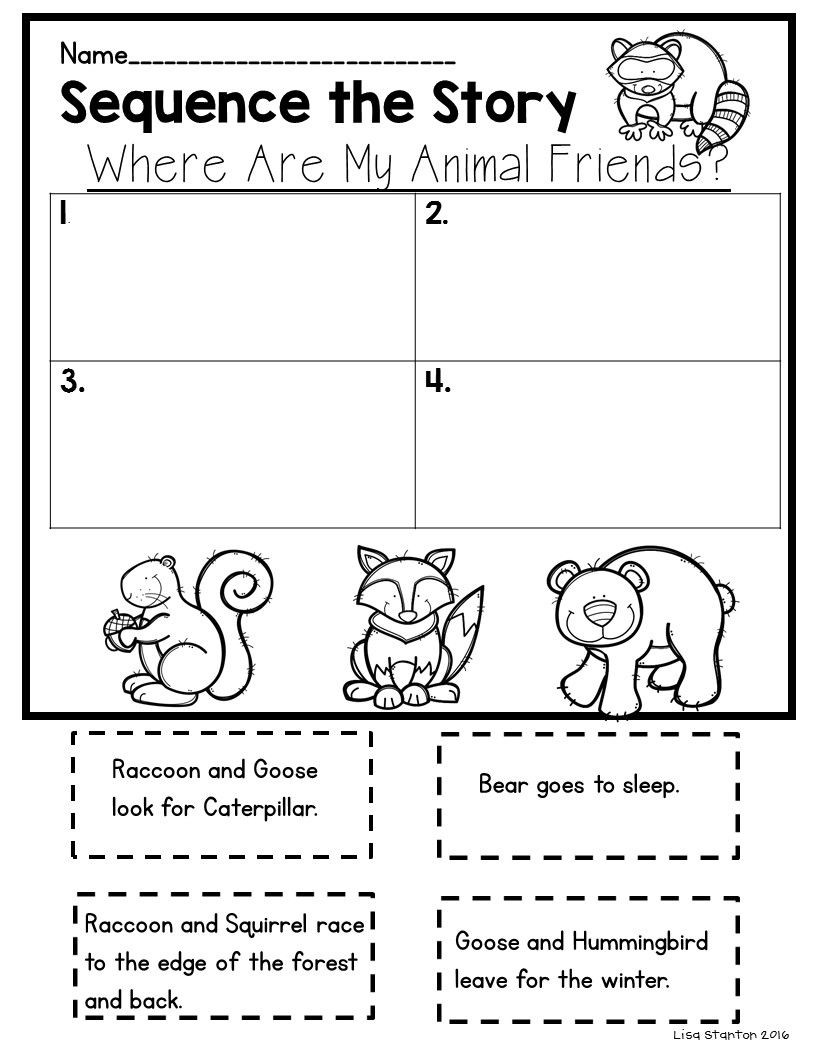 """Sequencing Worksheet First Grade Free Sequencing Activity for the Story """"where are My Animal"""