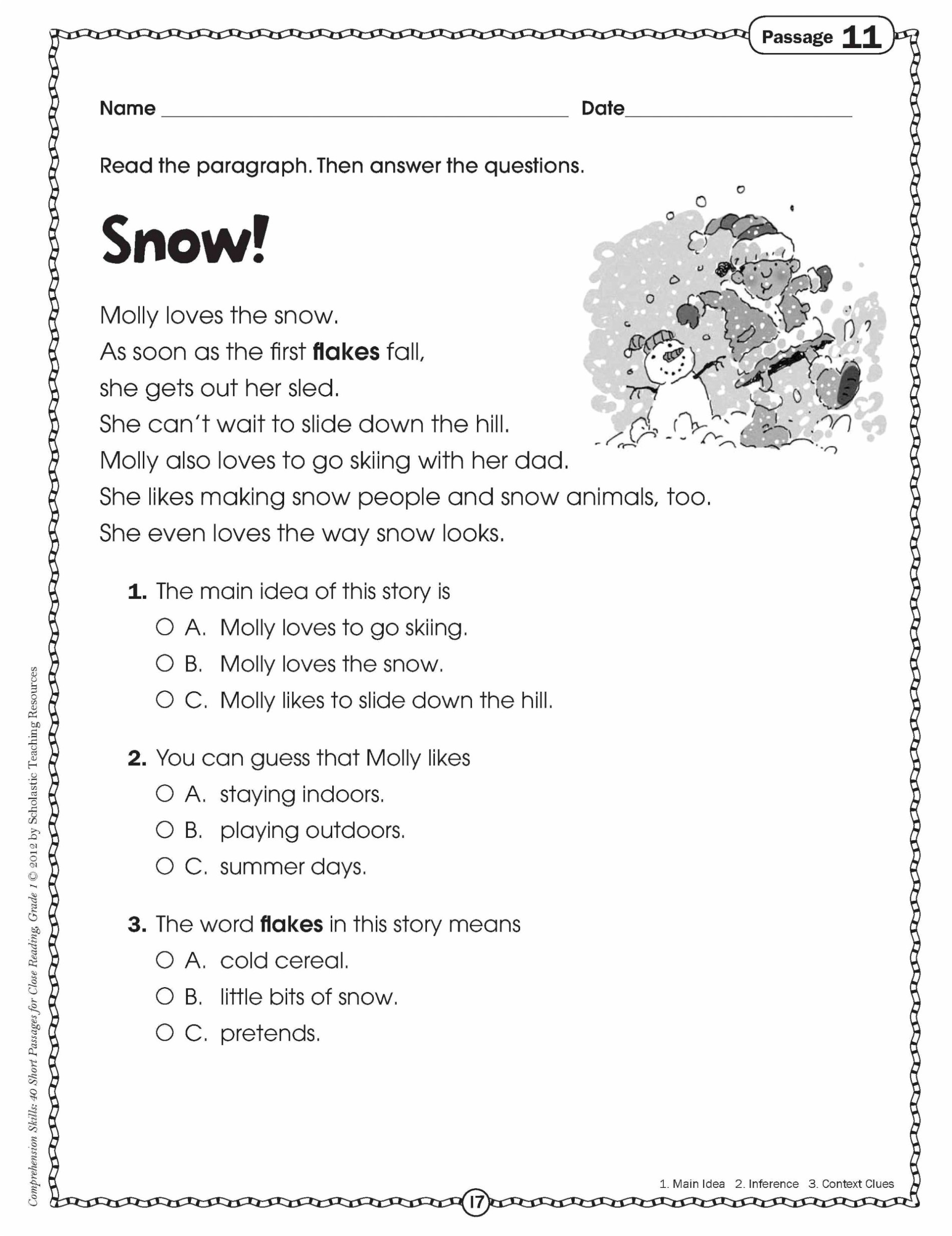 Sequencing Worksheets 5th Grade Math Worksheet Third Grade Reading Passages Line