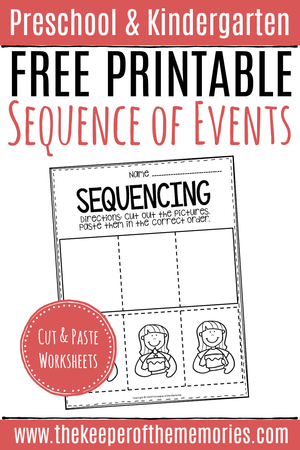 Sequencing Worksheets for 2nd Grade Free Printable Sequence events Worksheets Sequencing Cut