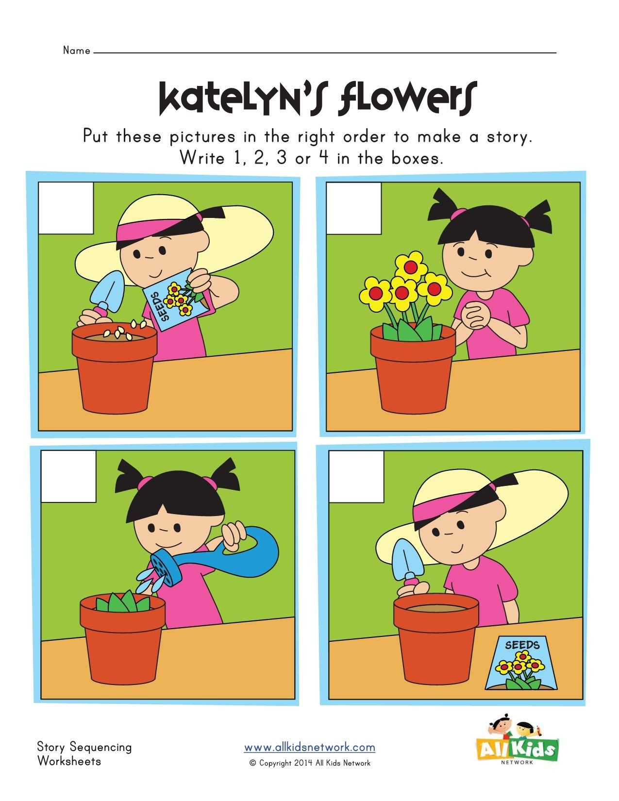 Sequencing Worksheets for 2nd Grade Planting Flowers Sequencing Worksheet