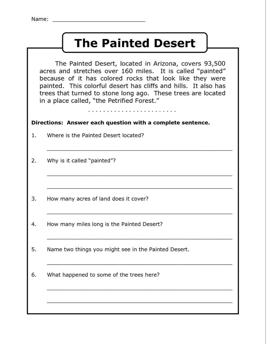 Sequencing Worksheets for Middle School 4th Grade Reading Prehension Worksheets Best Coloring