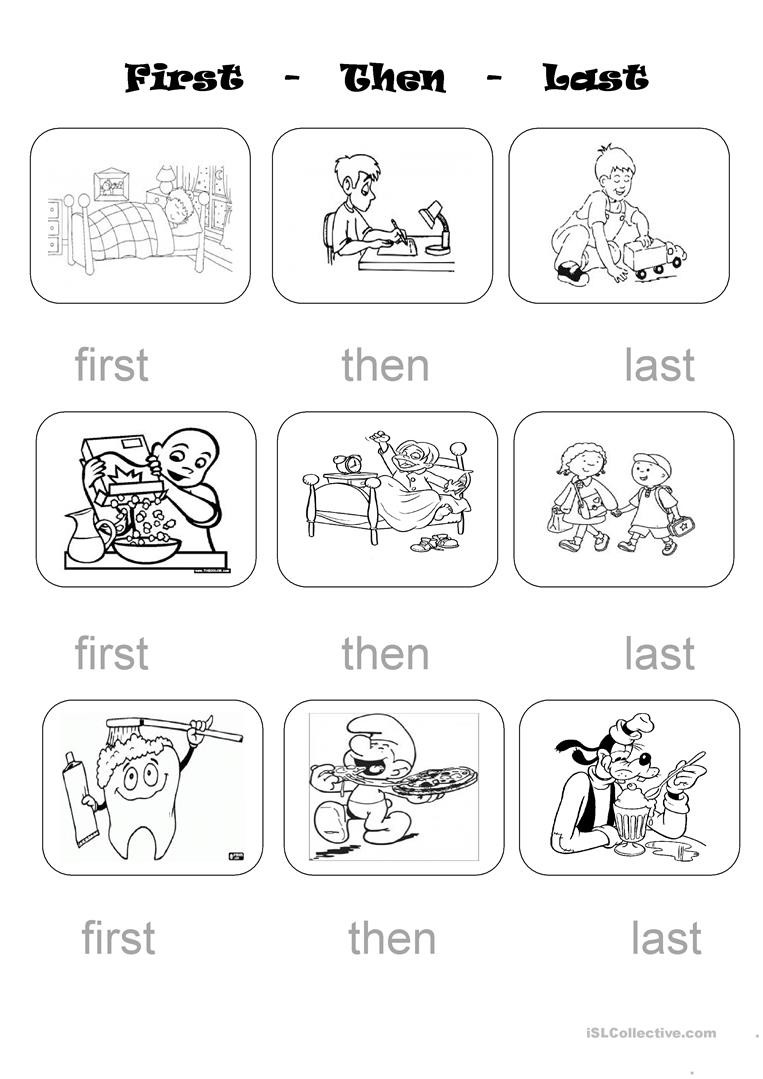 Sequencing Worksheets for Middle School First Next Last Worksheet
