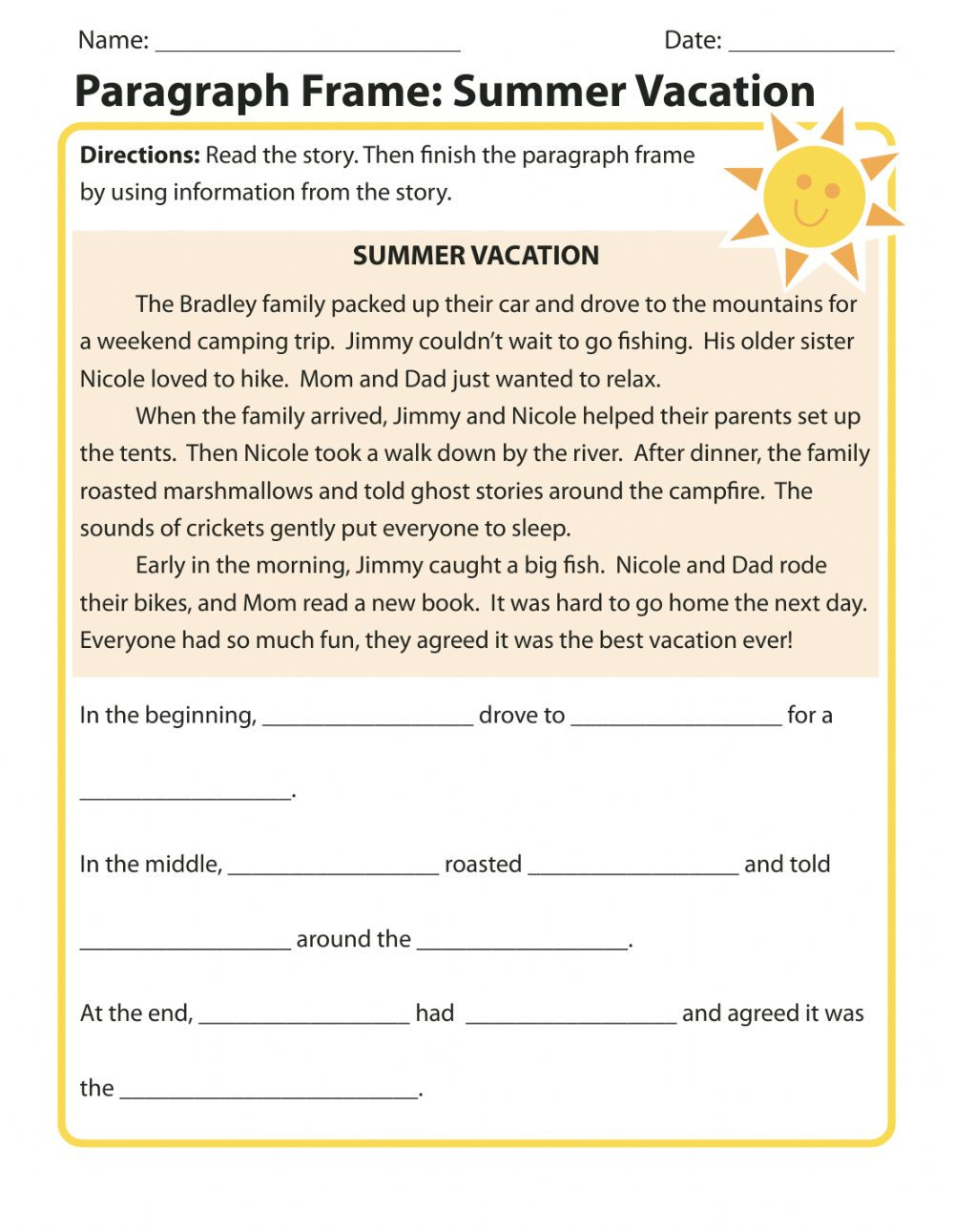 Sequencing Worksheets Middle School Sequence Interactive Worksheet