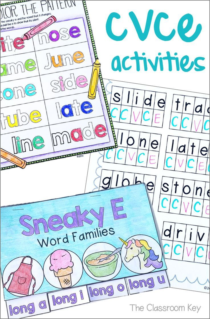 Silent E Worksheets Grade 2 Cvce or Silent E Activities for 1st or 2nd Grade Phonics Rf