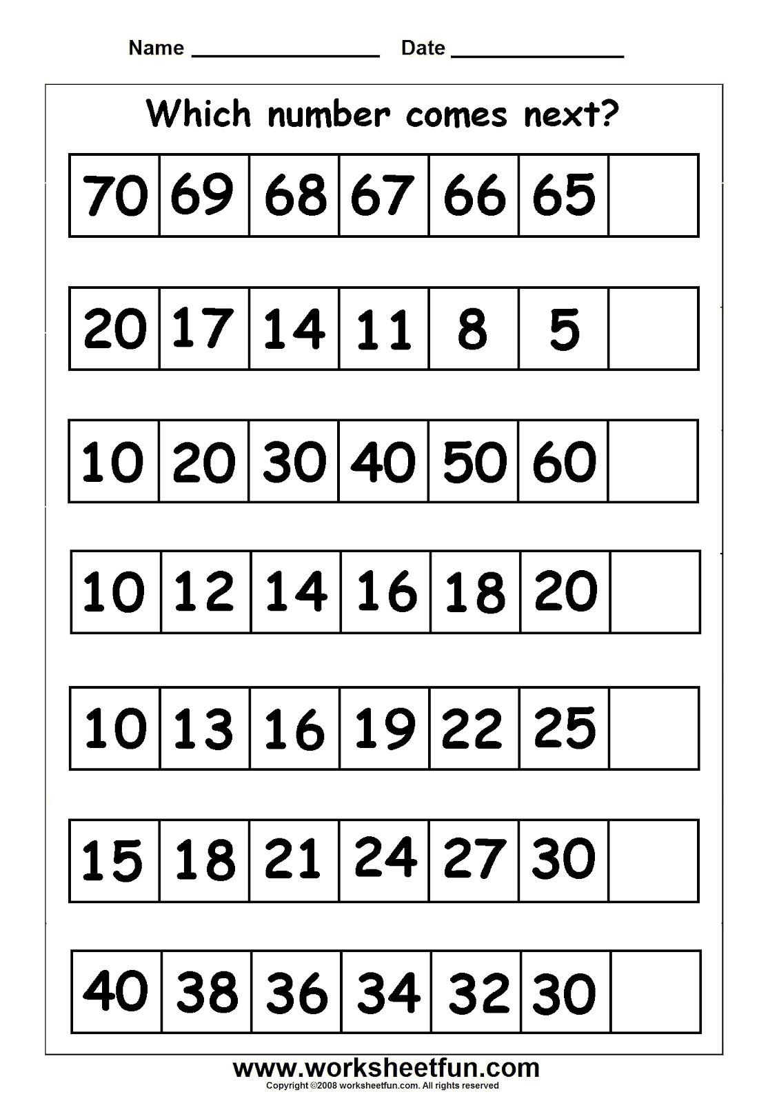 Skip Counting Worksheets First Grade First Grade Math First Grade Math Worksheets