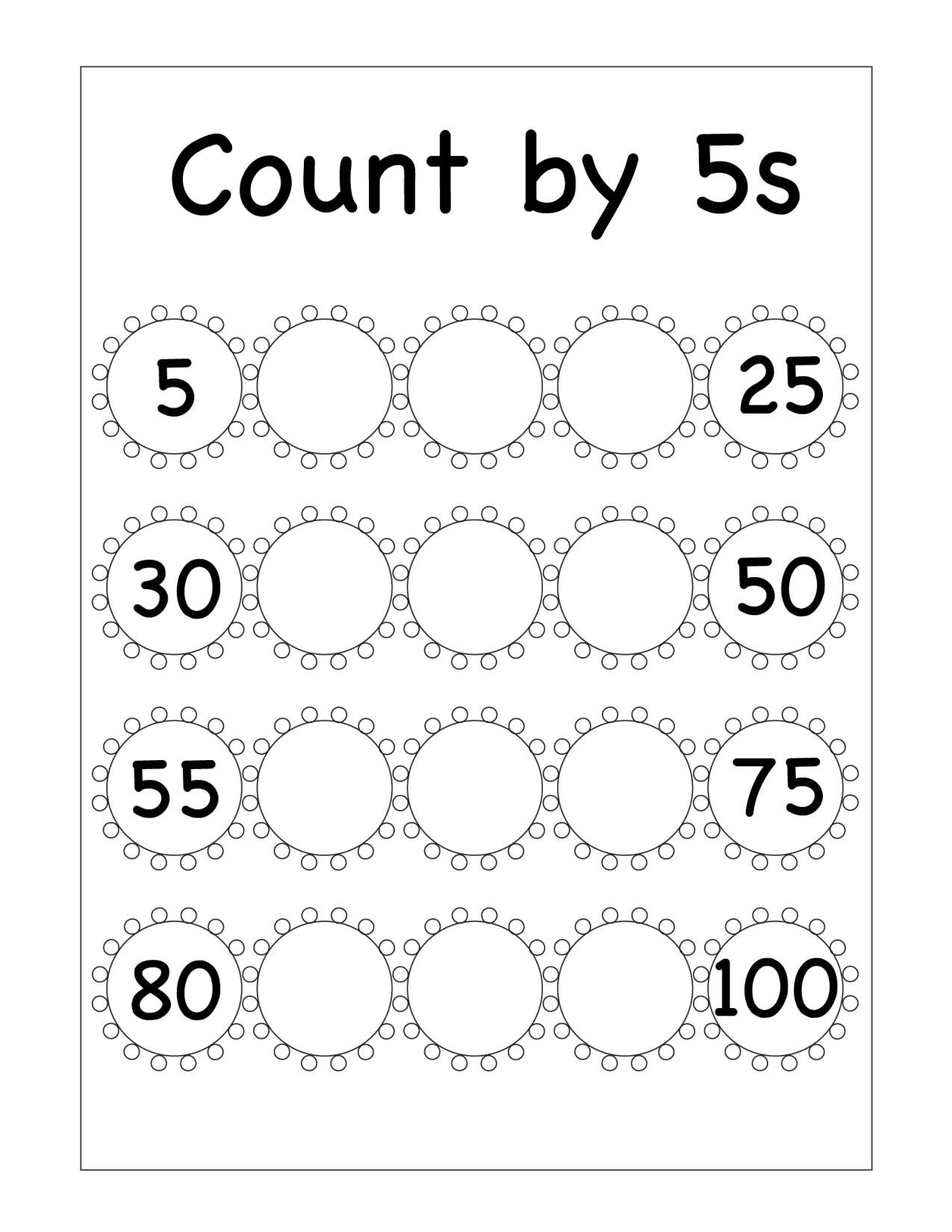 Skip Counting Worksheets First Grade Skip Counting Archives