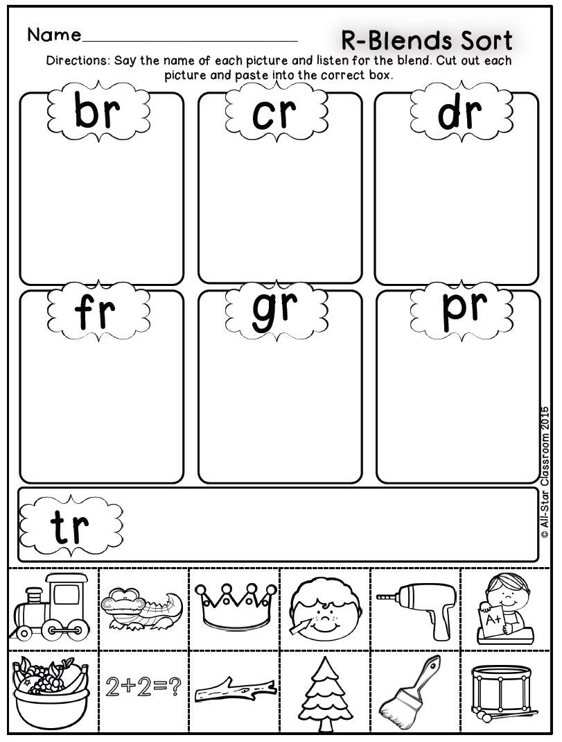 Sorting Worksheets for First Grade Blends sorts Palavras Fonoaudiologia Worksheets Looking for