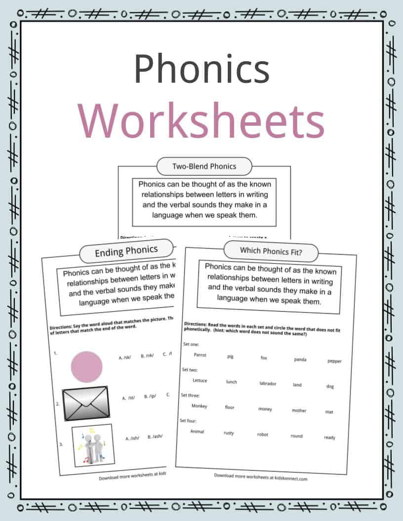 Sound Energy Worksheets 4th Grade Phonics Table Worksheets & Examples & Definition for Kids