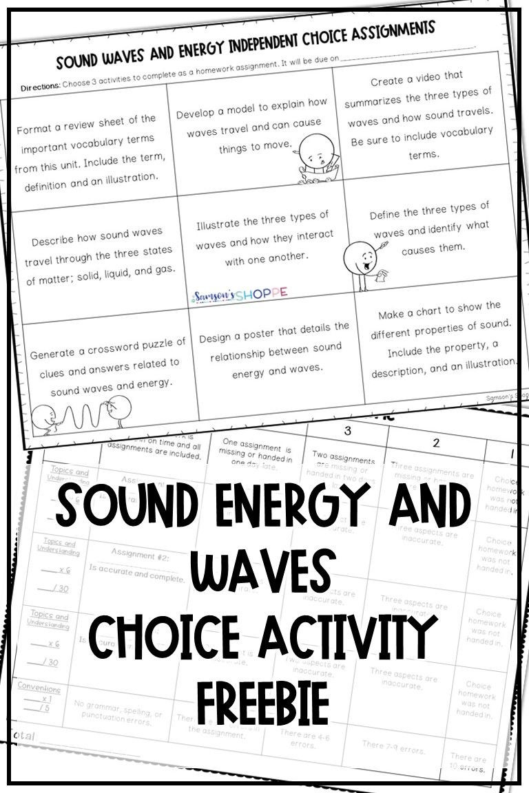 Sound Energy Worksheets 4th Grade sound Energy Waves Free
