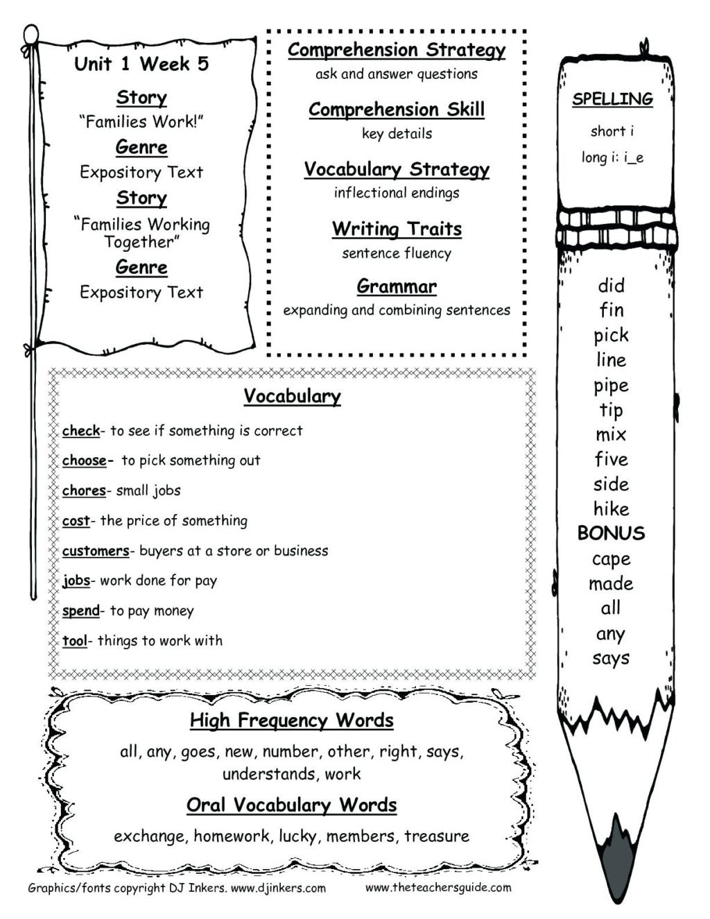 2nd and 3rd grade math second reading prehension printable passages wonders resources printouts for unit one week five worksheets free activities kindergarten students short 1024x1325