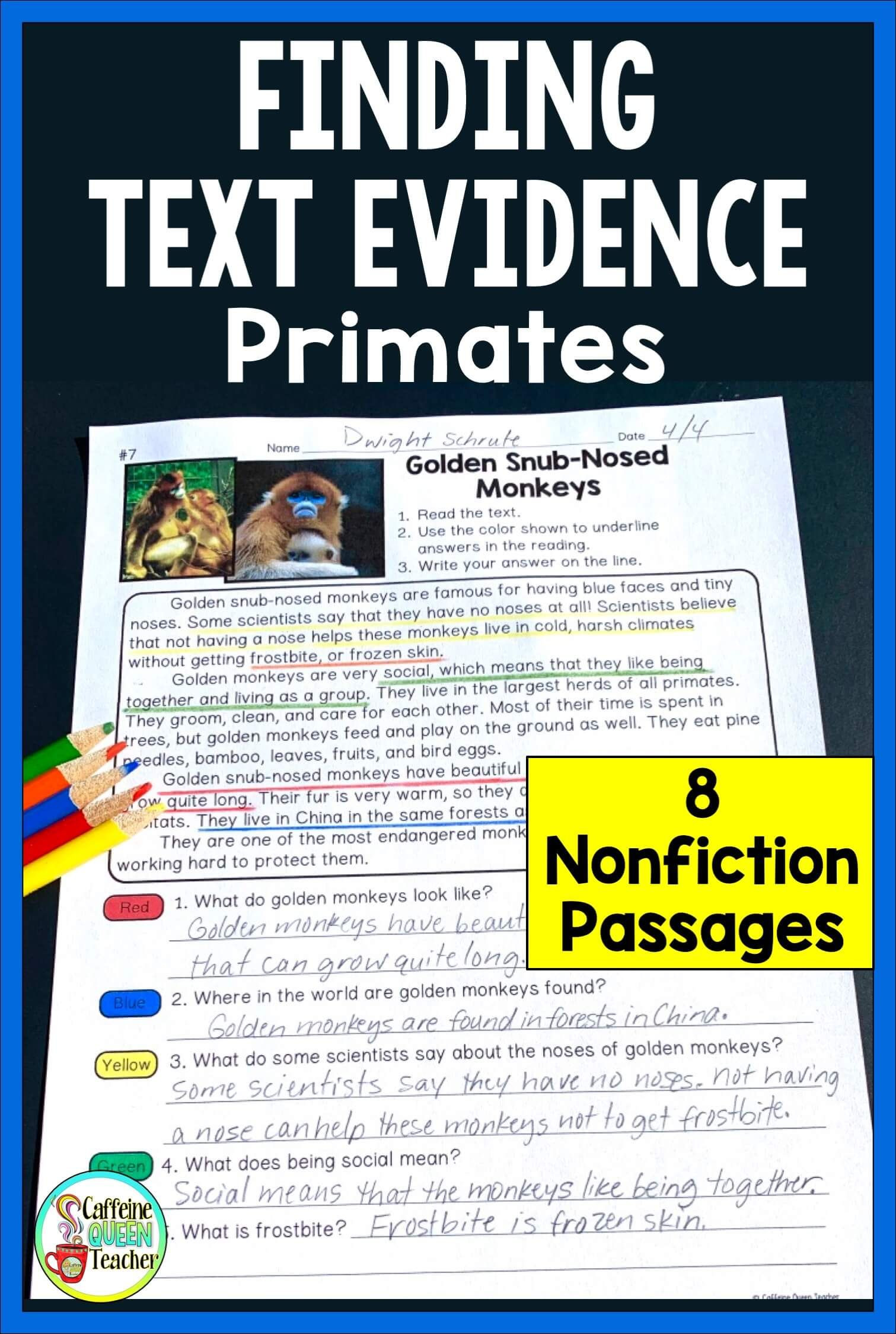 Text Evidence Worksheets 3rd Grade How to Teach Students to Cite Text Evidence