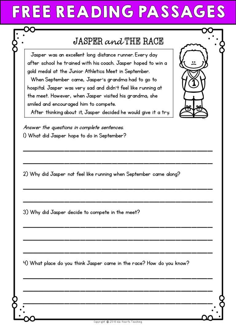 Text Evidence Worksheets 3rd Grade Second Grade Reading Prehension Passages and Questions