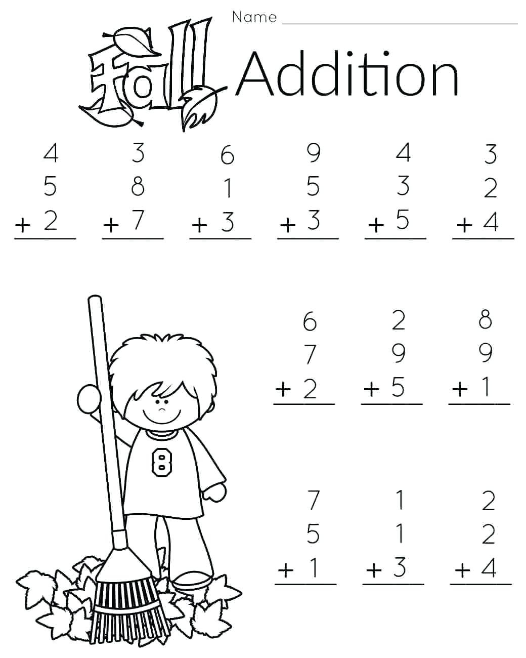 Thanksgiving Math Worksheets First Grade Math Worksheet Printable 1st Grade Coloring Pages