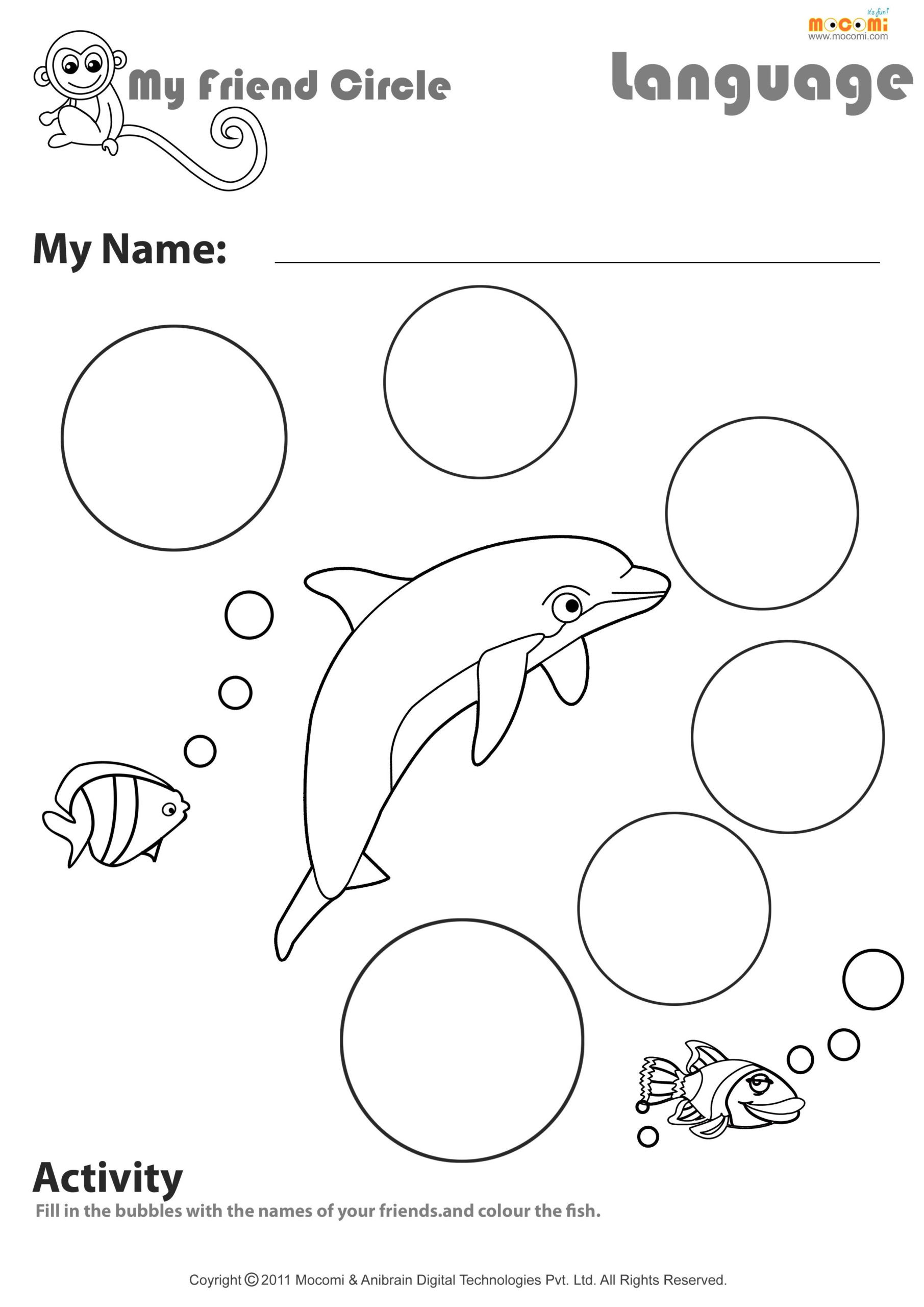 Theme Worksheets 2nd Grade My Friend Circle English Worksheet for Kids Worksheets