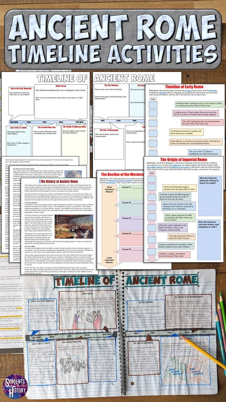 Timeline Worksheets for Middle School Love This Timeline Project for the Roman Empire In My Middle