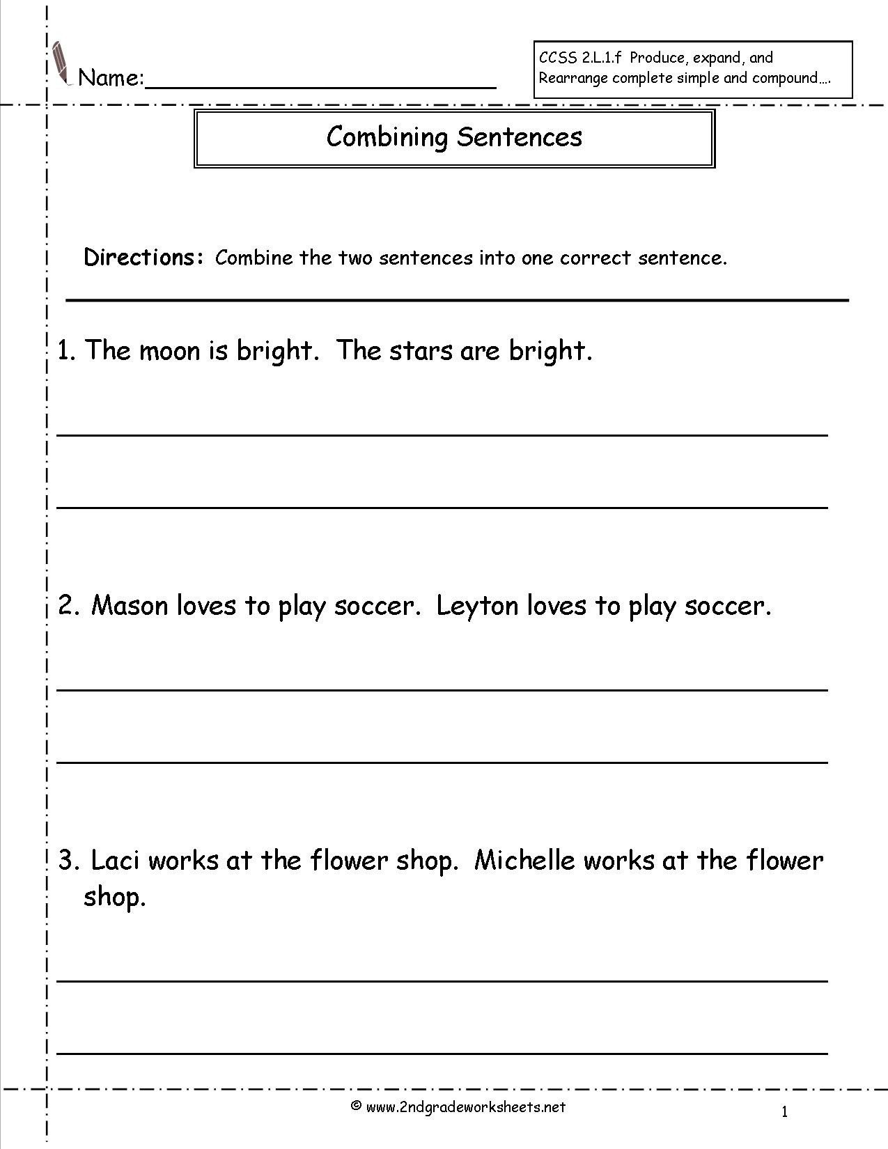 Topic Sentences Worksheets 3rd Grade Pound Sentences Worksheet 3rd Grade