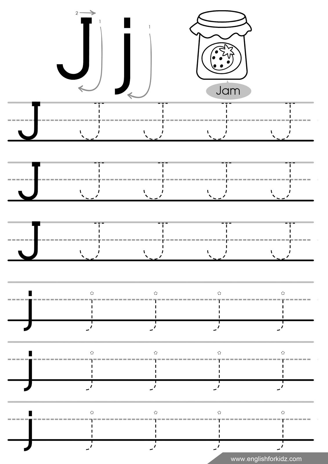 Tracing Lowercase Letters Printable Worksheets Letter Tracing Worksheets Letters A J