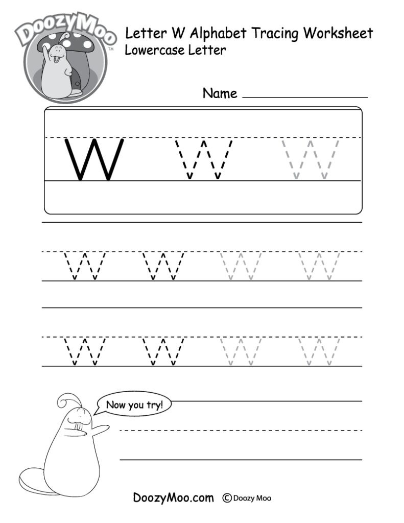 Tracing Lowercase Letters Printable Worksheets Lowercase Letter Tracing Worksheet Doozy Moo Preschool for