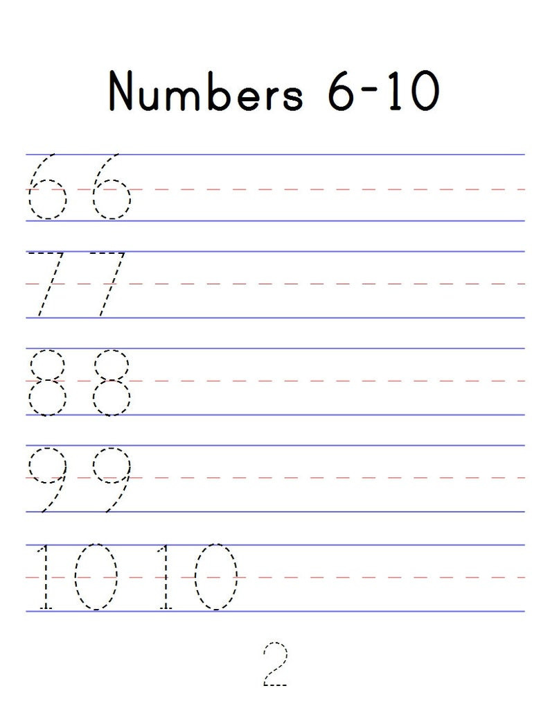 Tracing Numbers 1 20 Printable Number Tracing Workbook Numbers 1 20 Digital Pdf Printable Counting Worksheets