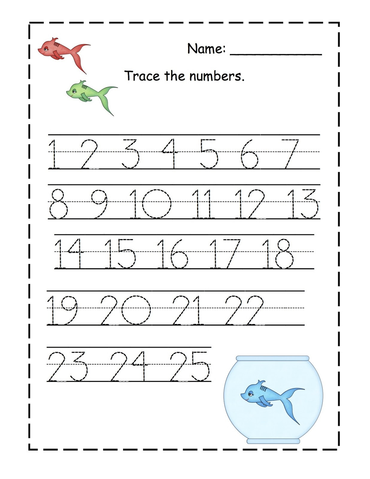 Tracing Numbers 1 20 Printable Trace Number 1 20 Worksheets