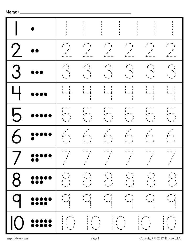 Tracing Numbers 1 20 Printable Tracing Worksheets Numbers 1 20 – Supplyme
