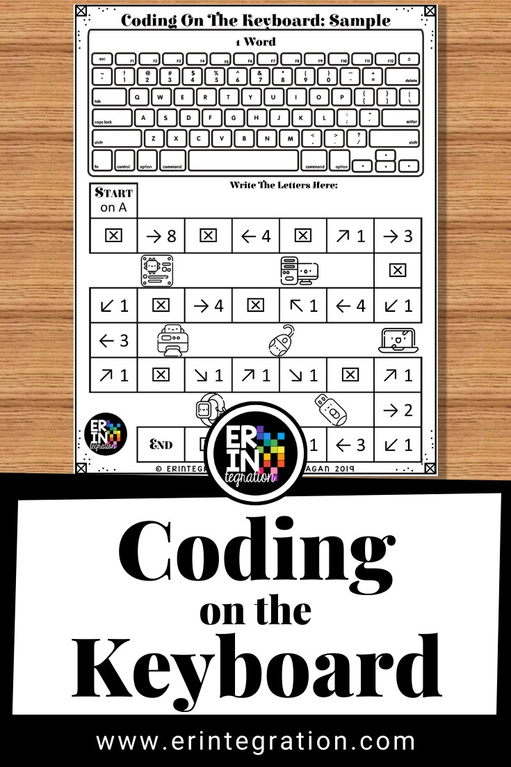 Typing Worksheets Printables Coding On the Keyboard to Introduce Coding to Kids and
