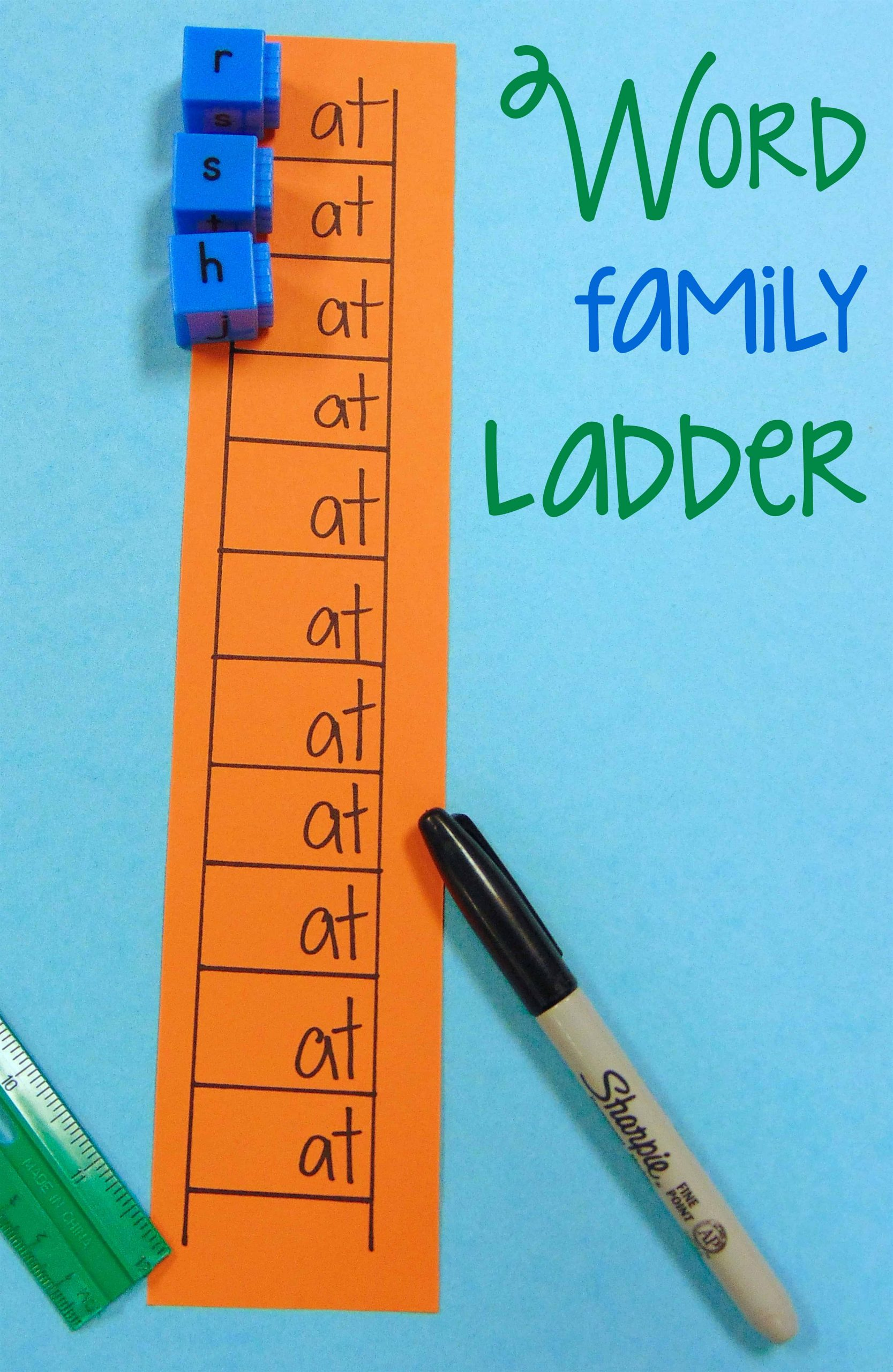 Word Ladders Middle School Diy Word Family Ladder Center Activity Classroom Hack