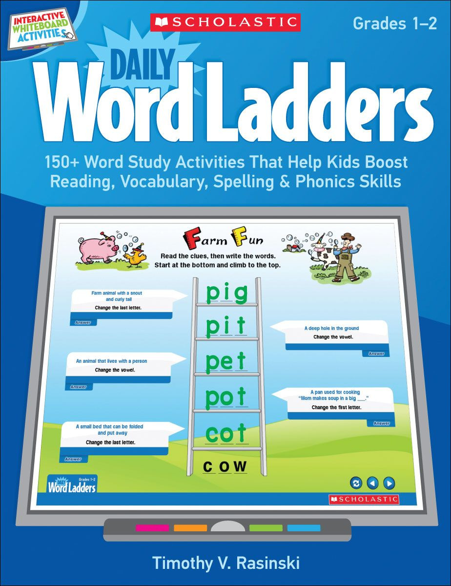 Word Ladders Middle School Interactive Whiteboard Activities Daily Word Ladders Grades