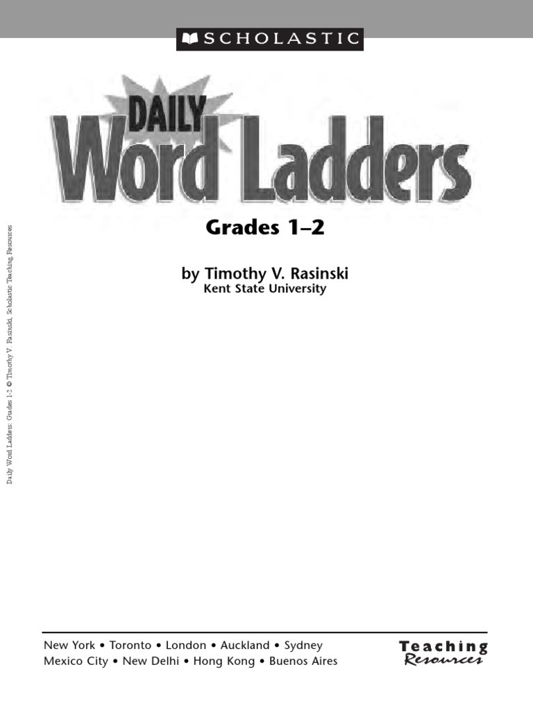 Word Ladders Middle School Word Ladders 1 2 Grade Phonics Nature